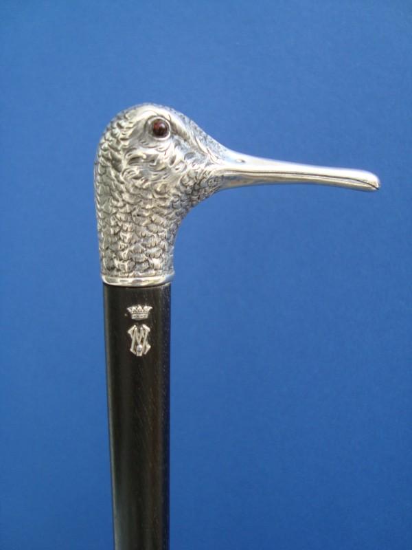 A silver bird`s head