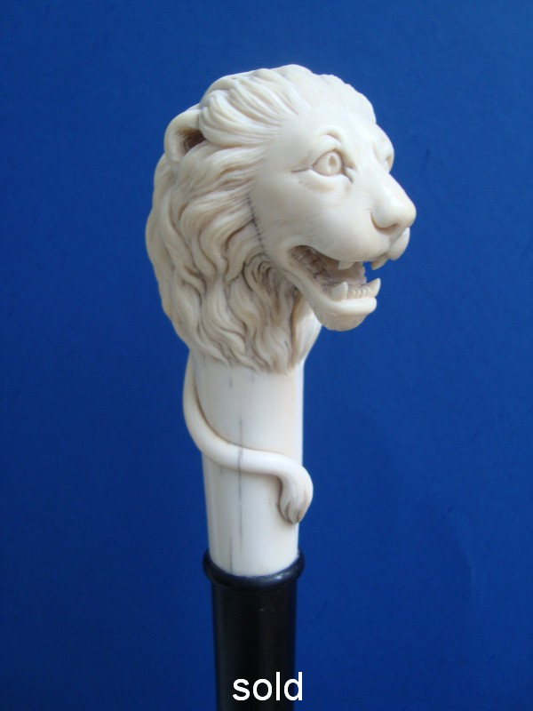 An ivory lion