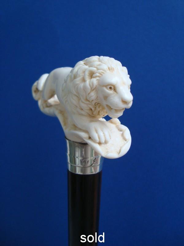 An ivory lion