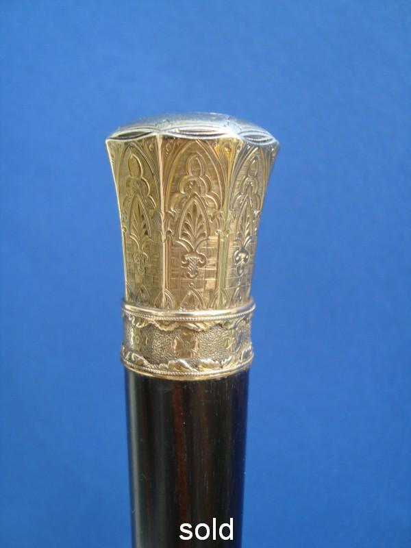 A silver gildet knob