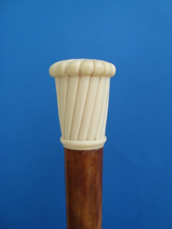 A spirally ivory knob