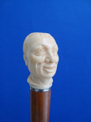 An ivory head of a man